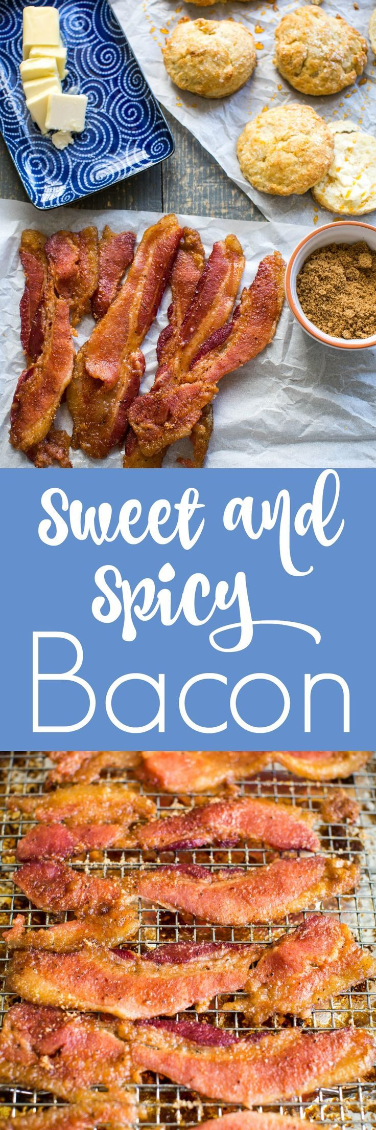 Sweet and Spicy Bacon inspired by the famous Chronic Bacon at Nashville's Biscuit Love. A rub of brown sugar, cayenne pepper & spices make this bacon sweet, spicy & smokey.