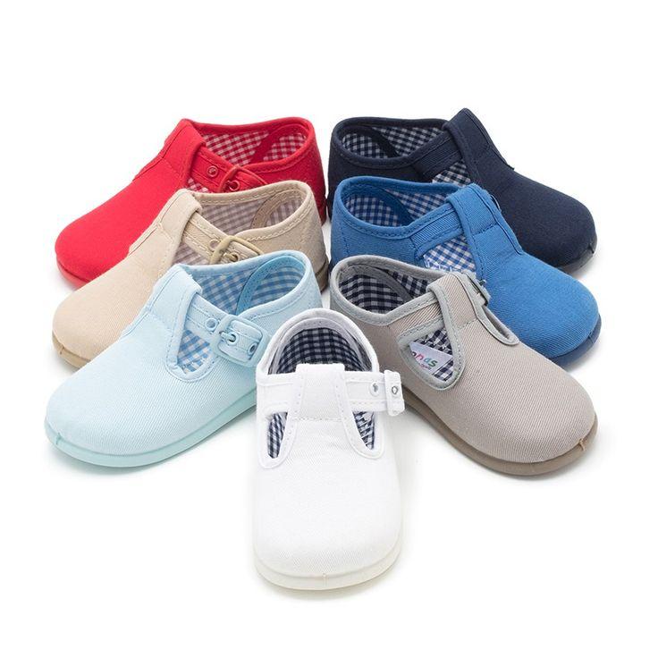 Sandalias Pepitos de Lona para Niños. Zapatos de Niños