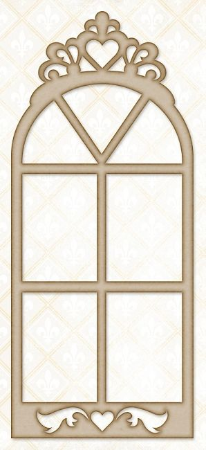 Blue Fern Studios - Chipboard - Princess Window