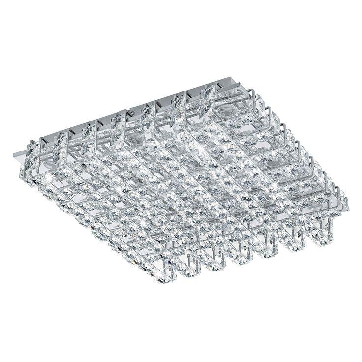 EEK A+, LED-Deckenleuchte Lonzaso - Kristallglas / Aluminium - 39, Eglo