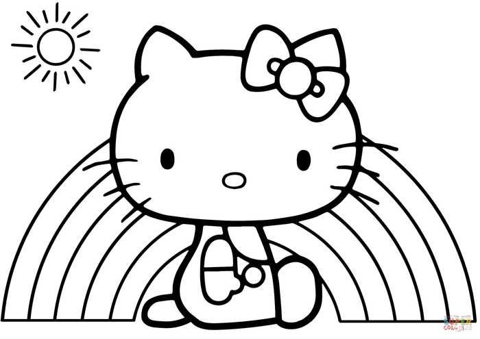 Easy Coloring Pages For Kids And Toddler Free Coloring Sheets Kitty Coloring Hello Kitty Coloring Hello Kitty Colouring Pages