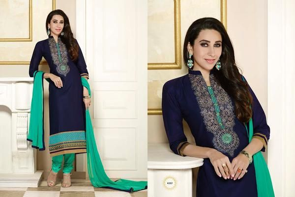 LadyIndia.com #Salwar Suit, Blue & Sky Designer Suit, Salwar Suit, Dress Material, https://ladyindia.com/collections/ethnic-wear/products/blue-sky-designer-suit