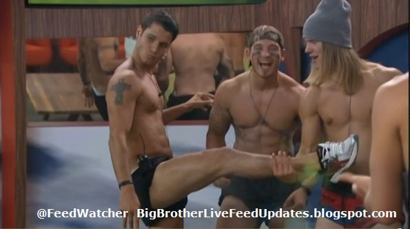 Big Brother USA Live Feed Updates: A Little More Beefcake...and Then On With the Game #BB16--Just a little follow up from the last post....I tried to just watch and enjoy the view, but I just had to take a few pictures. Cody's right leg.  I assume the other one is just as good.