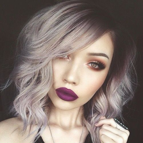 Alternative Hair Ideas The Purple Brown Tinted Roots