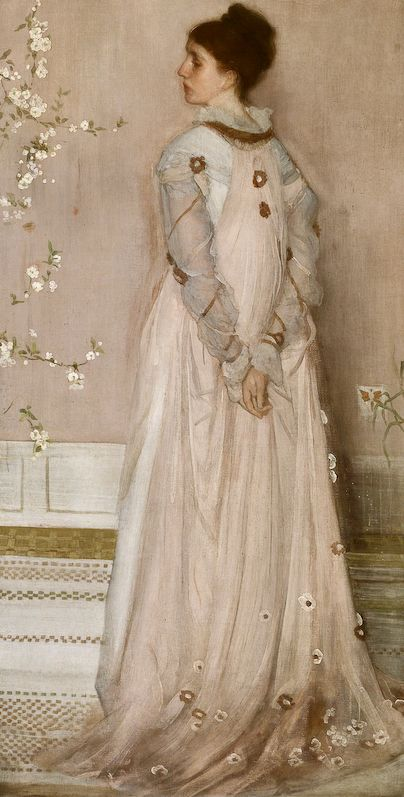 Whistler, Symphony in Flesh Colour and Pink: Portrait of Mrs Frances Leyland, 1871–74. Frick.