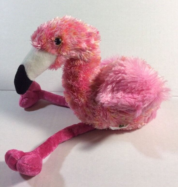 San Diego Zoo Flamingo Pink Plush Bean Bag Safari Park