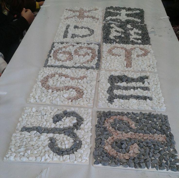 Resultado del taller de mosaico romano excelente ara for Mosaico romano