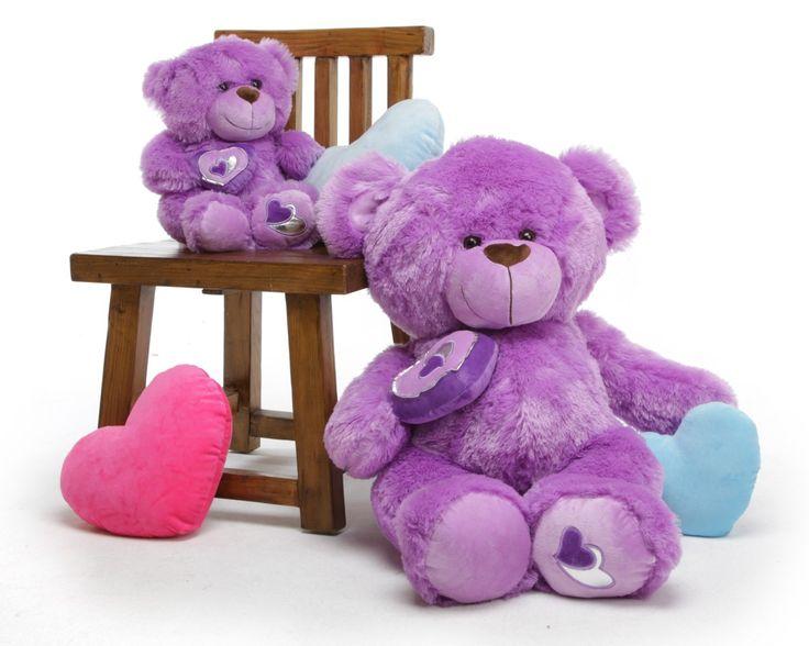 "Sewsie Big Love 30"" Pretty Lavender Valentine Teddy Bear - Giant Teddy Bears"