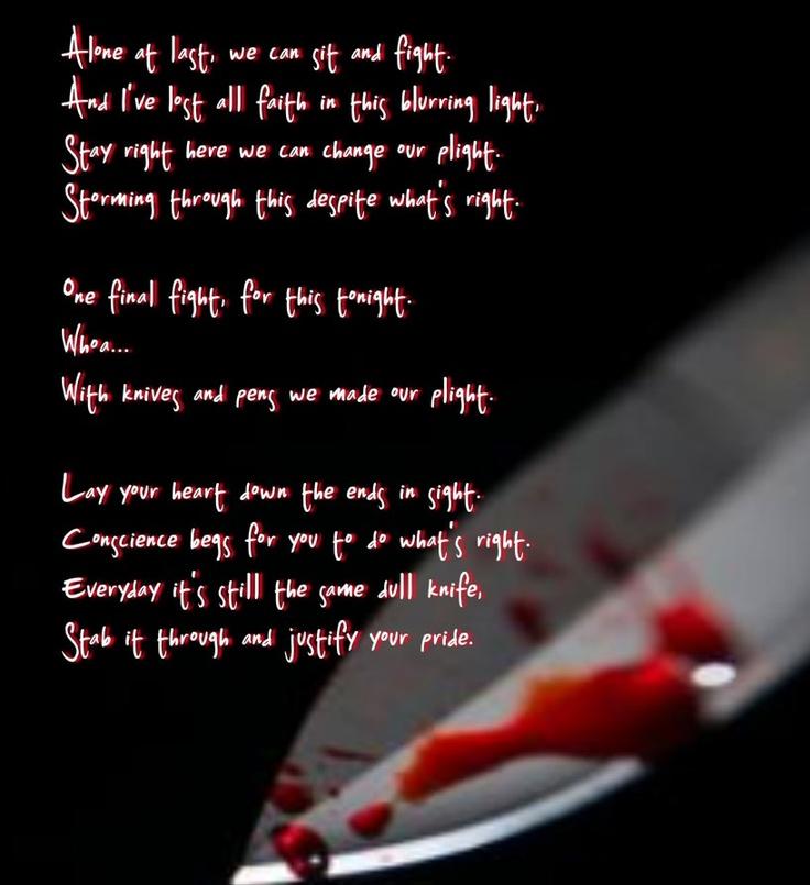 Drawings Of Black Veil Brides Lyrics