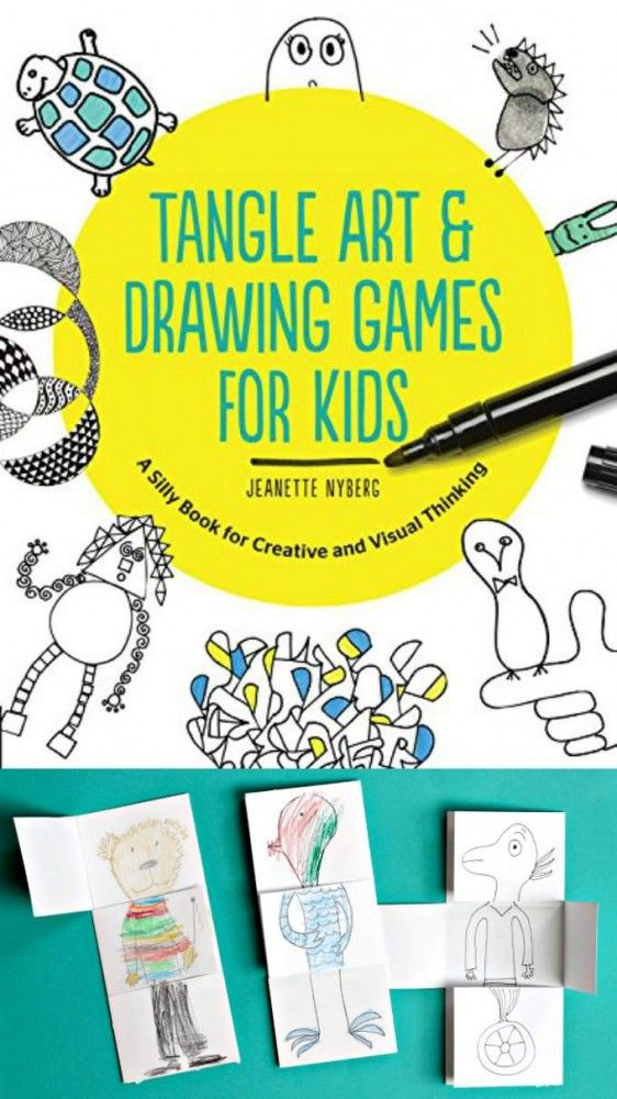 Exquisite corpse drawing game for kids. An art project that will make your kids laugh out loud.