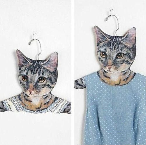 For the crazy cat lady in your life , cat clothes hangers