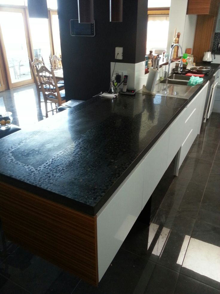 22 best concrete benchtops images on pinterest home for Kitchen benchtop ideas
