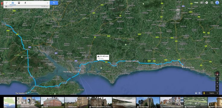 12May2015 Brighton-Arundel Castle-Bridge Tavern Portsmouth-The Needles on Isle of Wright-Stonhange - 128miles/206.08km 5h40min