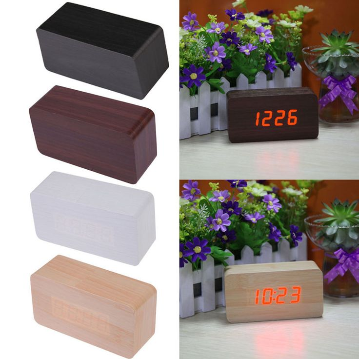 High Quality LED Digital Alarm Clock Calendar Thermometer Morden Wooden Clock Home Decoration Drop shipping //Price: $19.44 & FREE Shipping //     #hashtag3