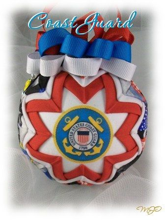 Quilted Ornament US Coast Guard FormaI by missjoysornaments