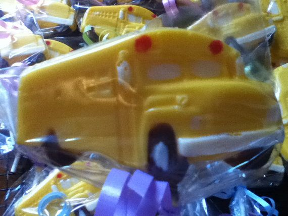 18 Back to School Party Bus Birthday Chocolate by SandiPopLollies, $30.00