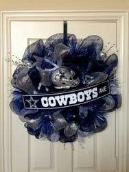 Dallas cowboy wreath