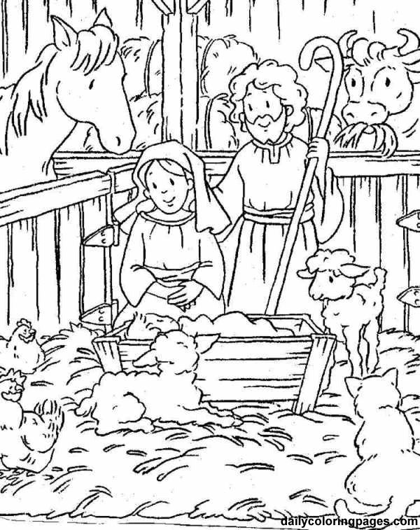 Nativity Creche Scenes, 15, to print for free and color and maybe use for cards.