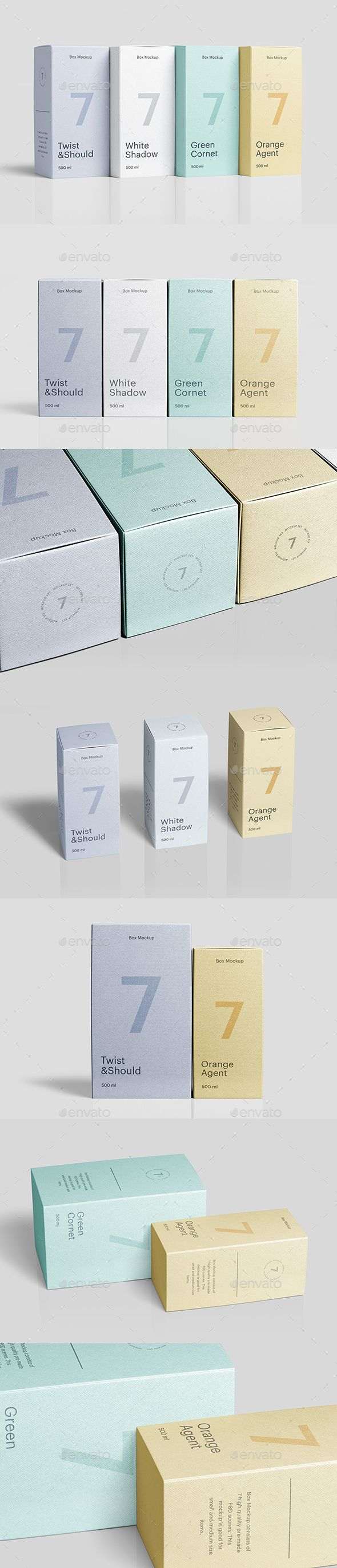 Download Box Mockup Box Mockup Graphic Design Templates Presentation Templates