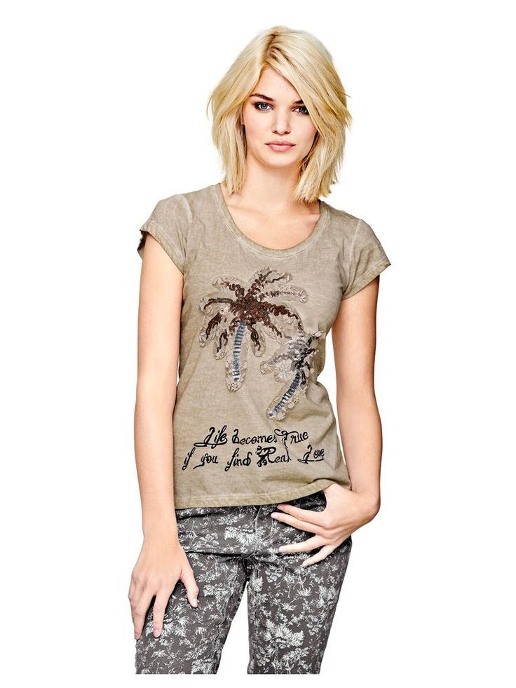 Mandarin - Paillettenshirt sand im Heine Online-Shop kaufen