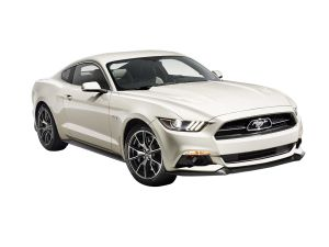 White Ford Mustang 2015 50 Years Limited Edition Clear