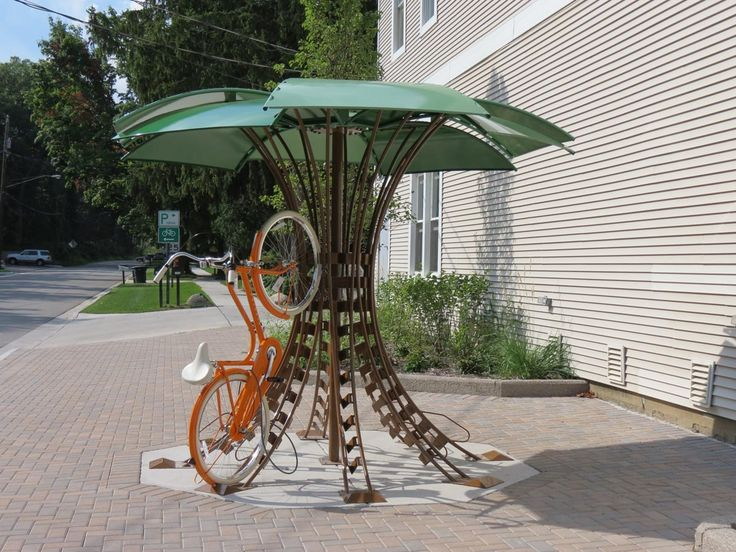 Covered Bike Shelters : Best images about bike parking covered on pinterest