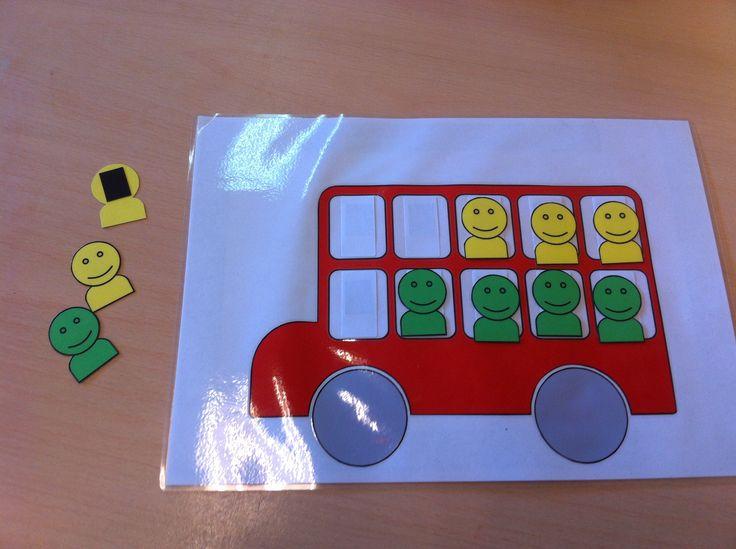 bussommen oefenen. door magneetstrip op achterzijde goed op het whiteboard te gebruiken