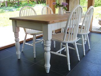 Best Tables Images On Pinterest Welsh Dresser Kitchen - Chantilly distressed dining table by little tree furniture