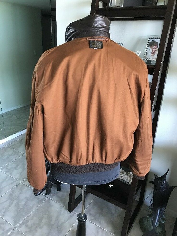 Avirex DSCP A2 Brown Flight USAF Bomber Leather Jacket