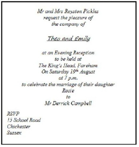 Wedding Reception Invitations Only