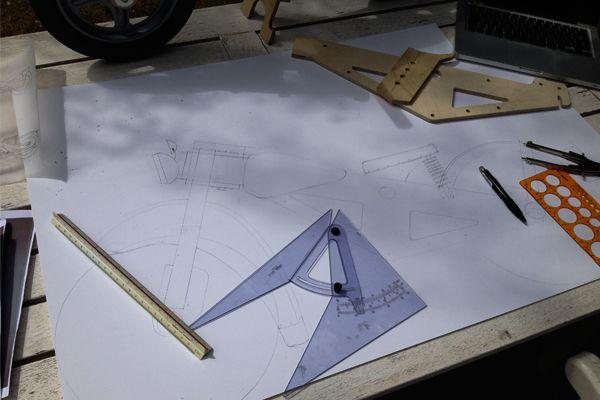 BLINKENBIKE Tribute to Nimbus – 1:1 drawings for cardboard templates