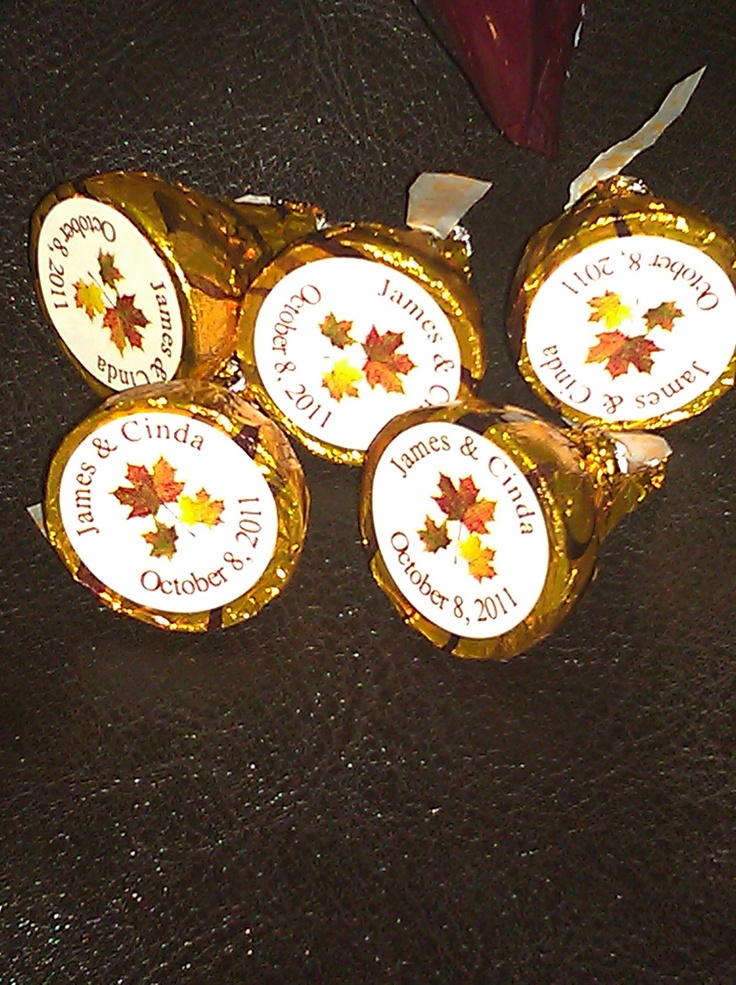 Personalized labels I put on herseys kisses