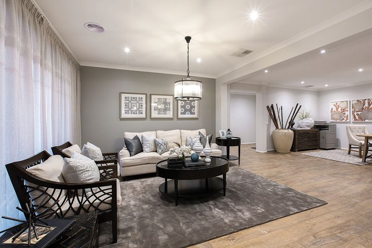 Formal lounge with a Classic Hamptons World of Style