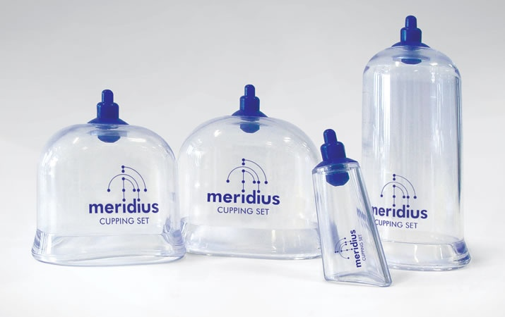Cupping Sets depict new logo designed for this client