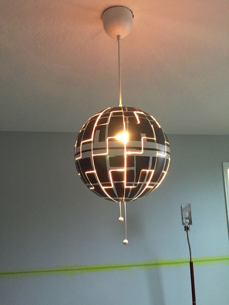 Star Wars Death Star Lamp Ikea Hack Maybe Paint A Bowl Fixture As Half Of