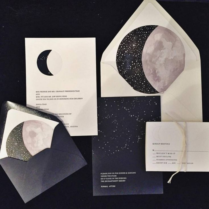 Stars and Moon Invites