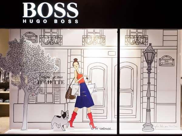 Storefront Story Romances  The Hugo Boss Storybook Window Display Tells a Charming Tale #HugoBoss