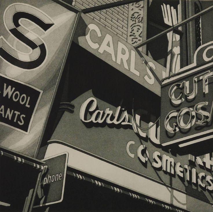 signs & street furniture - Robert Cottingham, 'Carl's' 1977