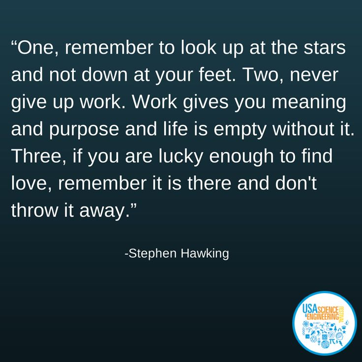 Great advice from Stephen Hawking #Scifest