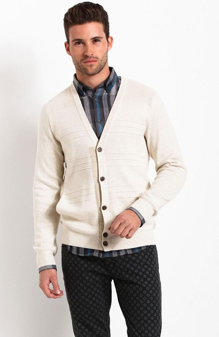 Textured Stitch Cardigan - New Arrivals - Mens - Armani Exchange #fashion