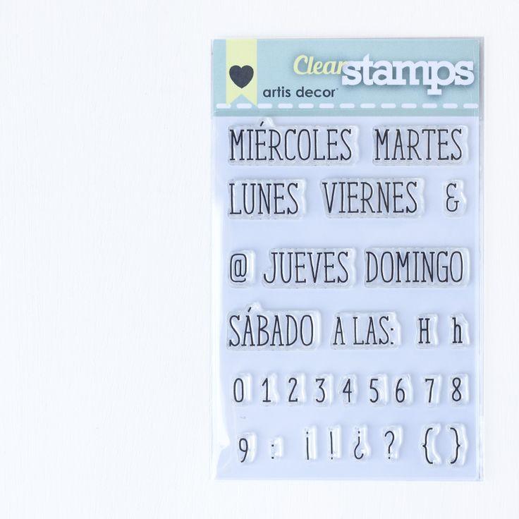 """Image of Sellos acrílicos """"Días de la semana + horas"""""""