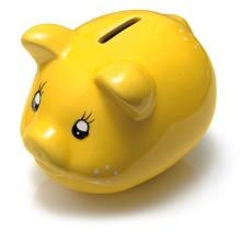 Yellow Piggy Bank by Gradwell VoIP Providers