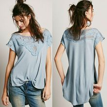 2014 latest embroidered lace women plain fashion hemp t  Best Seller follow this link http://shopingayo.space