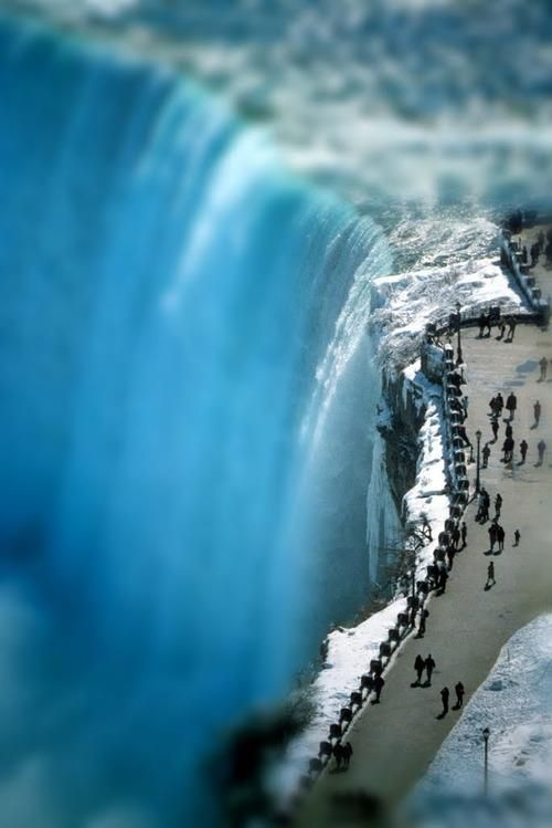 Tilt-shifted Niagara Falls by C. Johnston