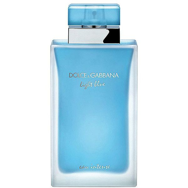 Dolce & Gabbana Light Blue Eau Intense 3.3-Oz. Eau de Parfum ($75) ❤ liked on Polyvore featuring beauty products, fragrance, eau de parfum perfume, eau de perfume, edp perfume, dolce gabbana fragrance and dolce gabbana perfume