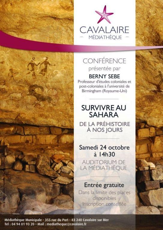 Conférence « (Sur)vivre au Sahara, de la Préhistoire à nos jours », Cavalaire-sur-Mer (83240), Provence-Alpes-Côte d'Azur