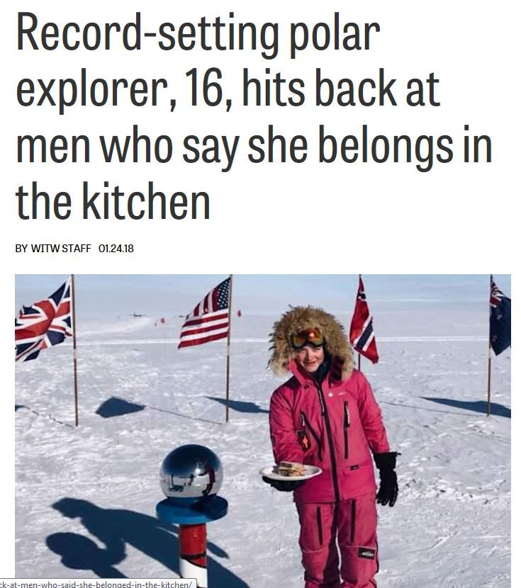 At 16 Years Old Australian Explorer Jade Hameister Is The Youngest Person To Ever Complete The Polar Hat Trick By Reaching The No Girls Rules Polar South Pole