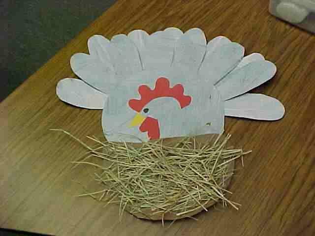 chicken or turkey craft for farm unit!