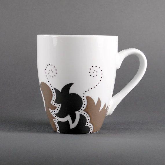 handpainted coffee mug  neutral pebble by MaryGallimoreStudio, $40.00