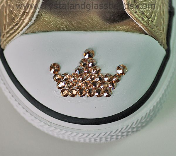 How To Create A Swarovski Crystal Tiara Converse Tutorial   Crystal and Glass Beads